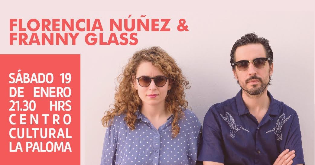 Florencia Núñez y Franny Glass en vivo en La Paloma