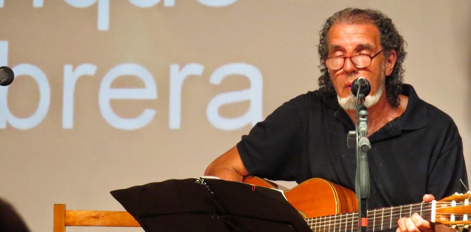 El músico Enrique Cabrera hoy en La Paloma!
